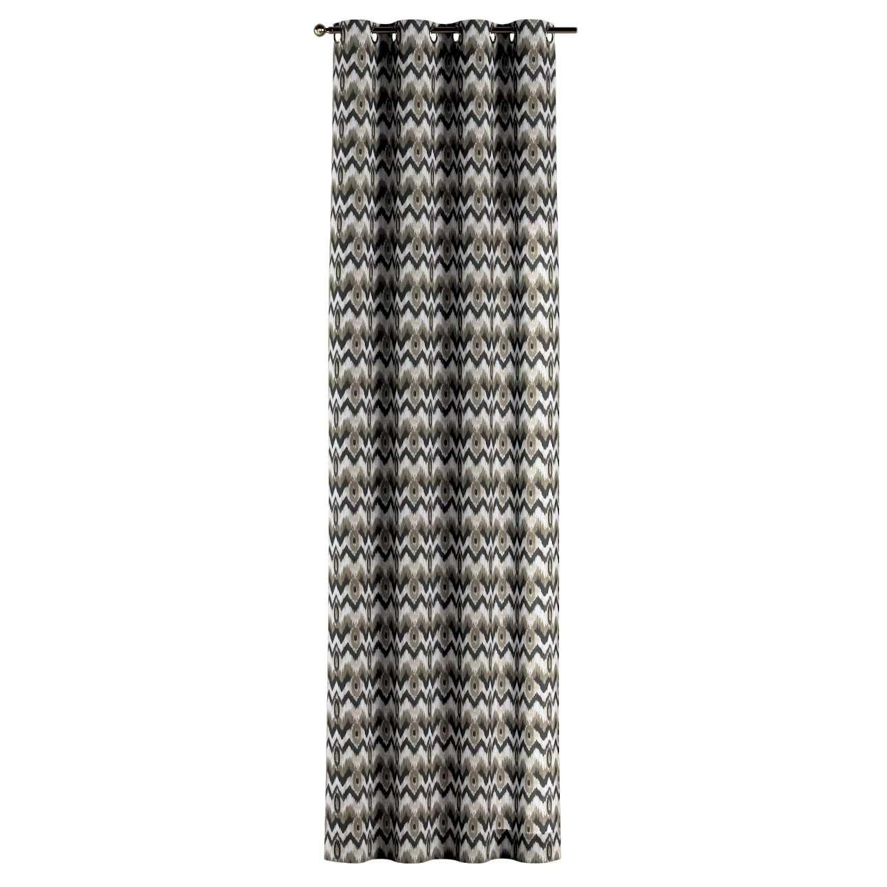 Gardin med öljetter 1 längd 130 × 260 cm i kollektionen Modern, Tyg: 141-88