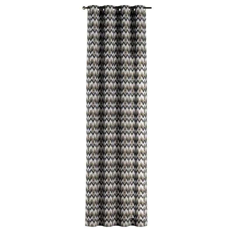 Gordijn met ringen van de collectie Modern, Stof: 141-88