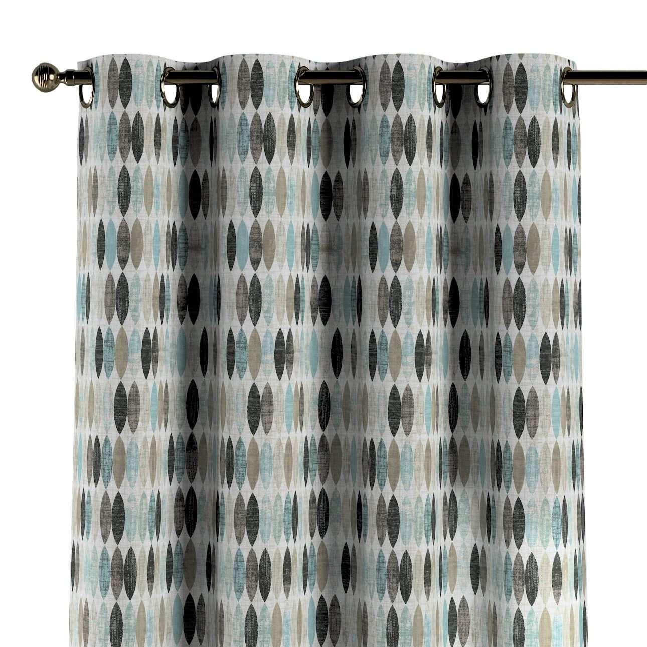 Závěs na kroužcích v kolekci Modern, látka: 141-91