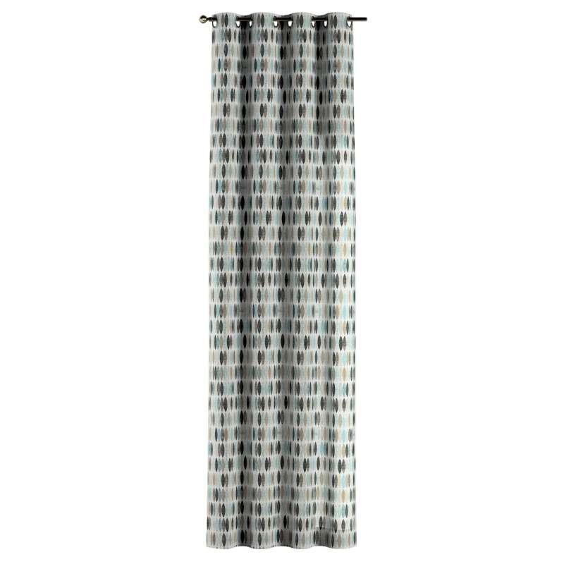 Gardin med öljetter 1 längd i kollektionen Modern, Tyg: 141-91