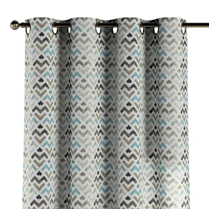 Gardin med öljetter 1 längd i kollektionen Modern, Tyg: 141-93
