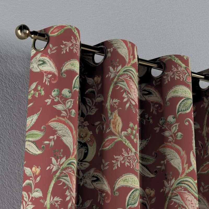 Gardin med öljetter 1 längd i kollektionen Gardenia, Tyg: 142-12