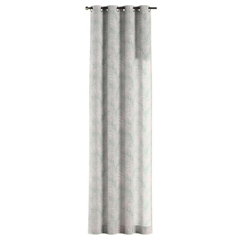 Gardin med öljetter 1 längd i kollektionen Gardenia, Tyg: 142-15
