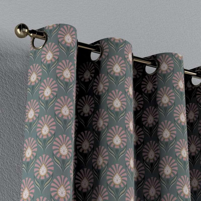 Gardin med öljetter 1 längd i kollektionen Gardenia, Tyg: 142-17