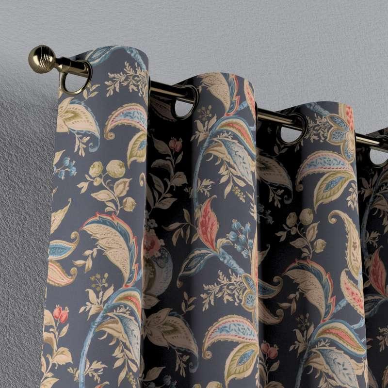 Gardin med öljetter 1 längd i kollektionen Gardenia, Tyg: 142-19