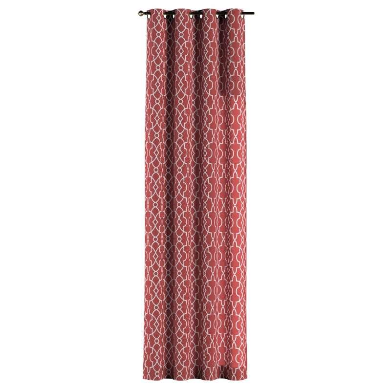 Gardin med öljetter 1 längd i kollektionen Gardenia, Tyg: 142-21