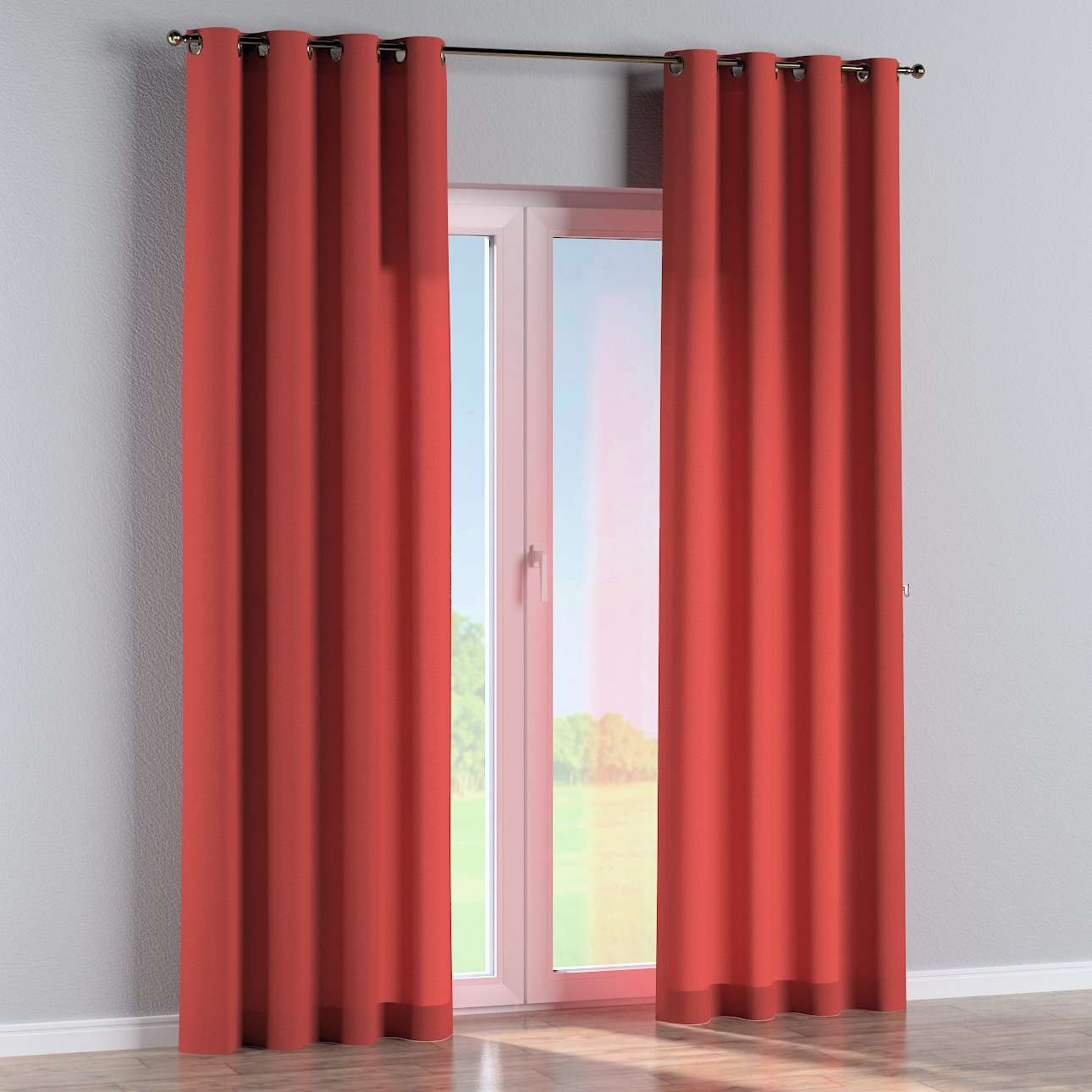 Eyelet curtains in collection Woolly, fabric: 142-33