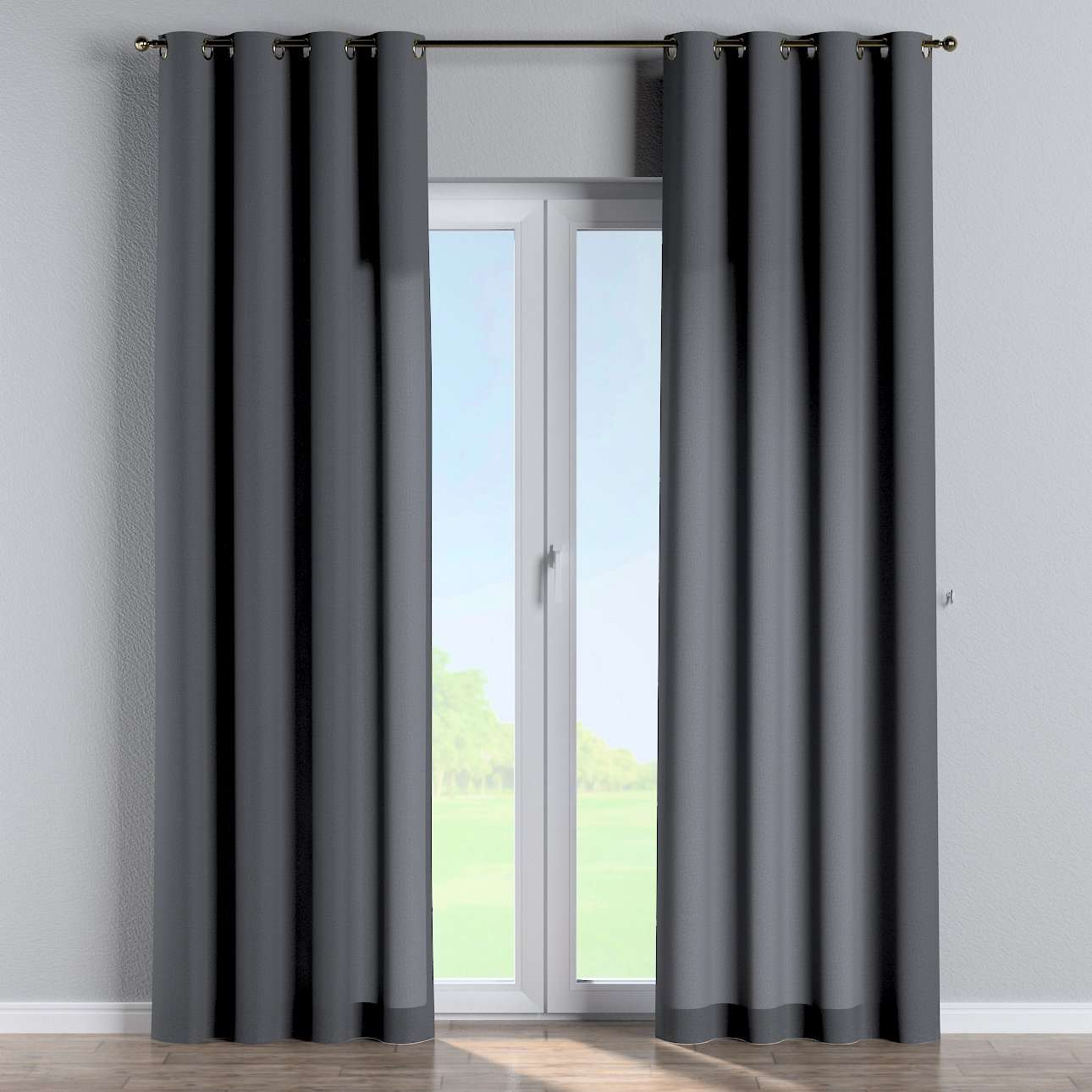 Eyelet curtains in collection Woolly, fabric: 142-34