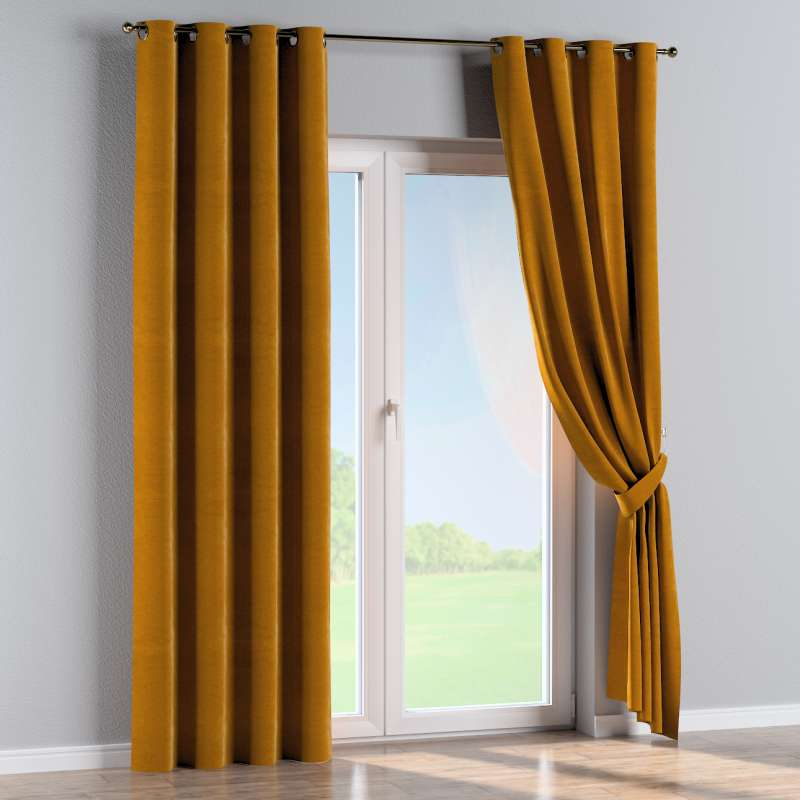 Eyelet curtain in collection Velvet, fabric: 704-23
