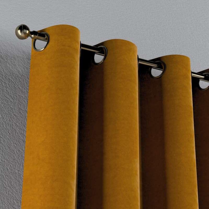 Gardin med öljetter 1 längd i kollektionen Velvet, Tyg: 704-23