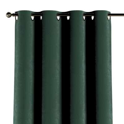 Zasłona na kółkach 1 szt. 704-25 ciemny zielony Kolekcja Velvet