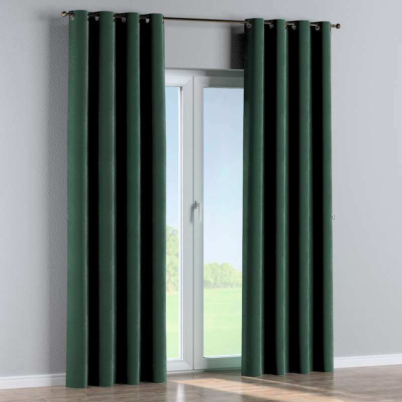 Eyelet curtain in collection Velvet, fabric: 704-25