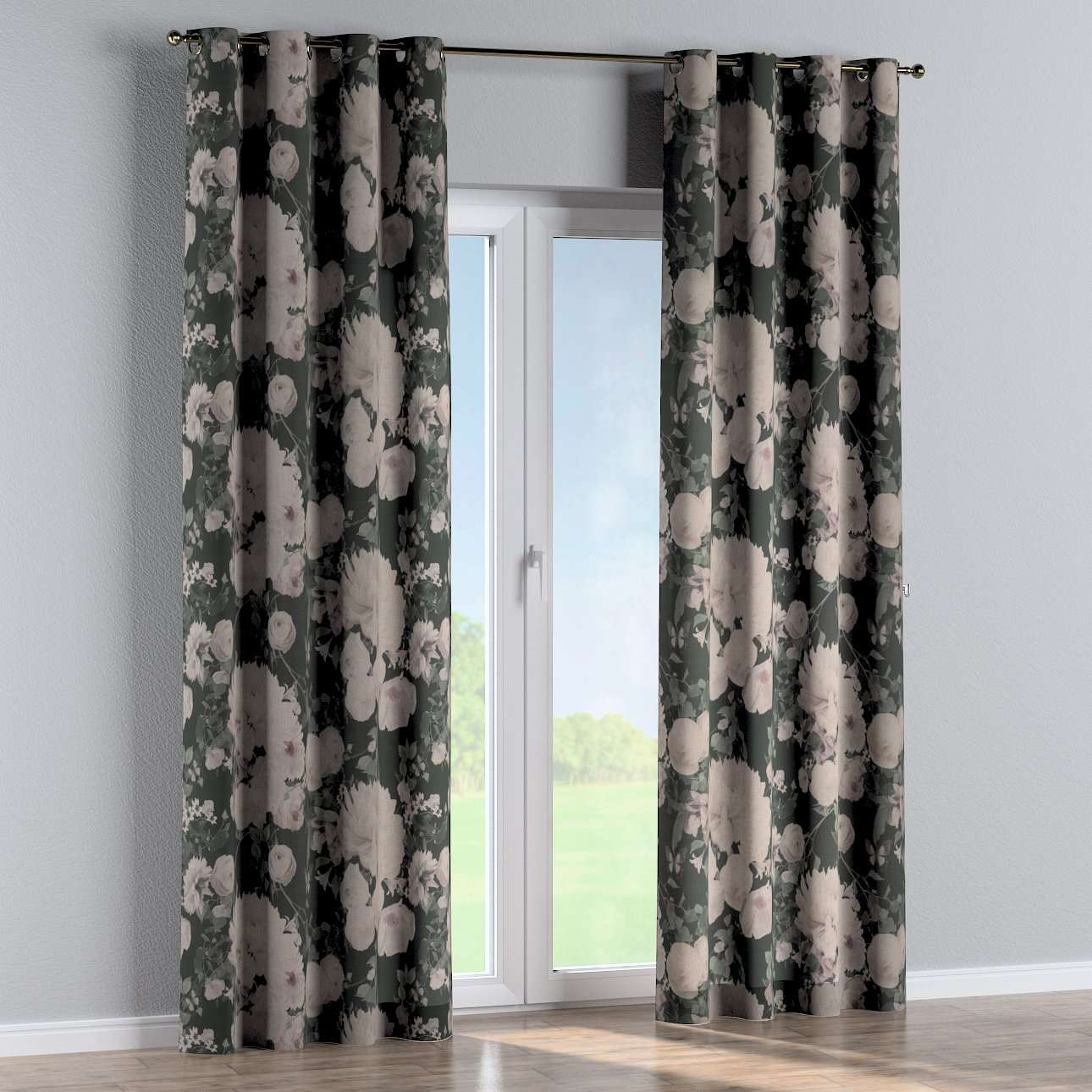 Eyelet curtains in collection Linen, fabric: 142-25