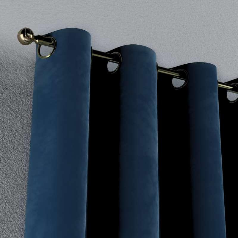 Gardin med öljetter 1 längd i kollektionen Velvet, Tyg: 704-29