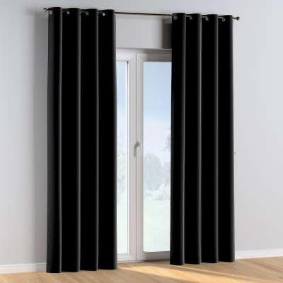 Eyelet curtains 704-17 black Collection Posh Velvet