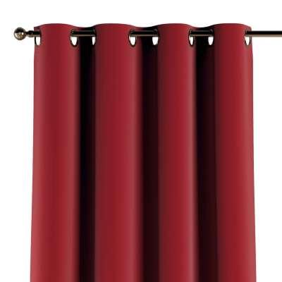 Závěs s průchodkami 1 ks 704-15 intenzivní červená Kolekce Posh Velvet