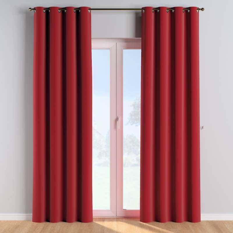 Eyelet curtains in collection Posh Velvet, fabric: 704-15