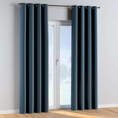 Žiedinio klostavimo užuolaidos 1 vnt. 704-16 tamsi mėlyna Kolekcija Posh Velvet