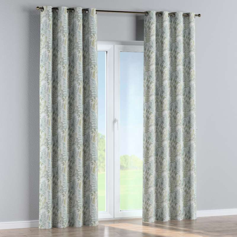 Eyelet curtain in collection Pastel Forest, fabric: 142-46