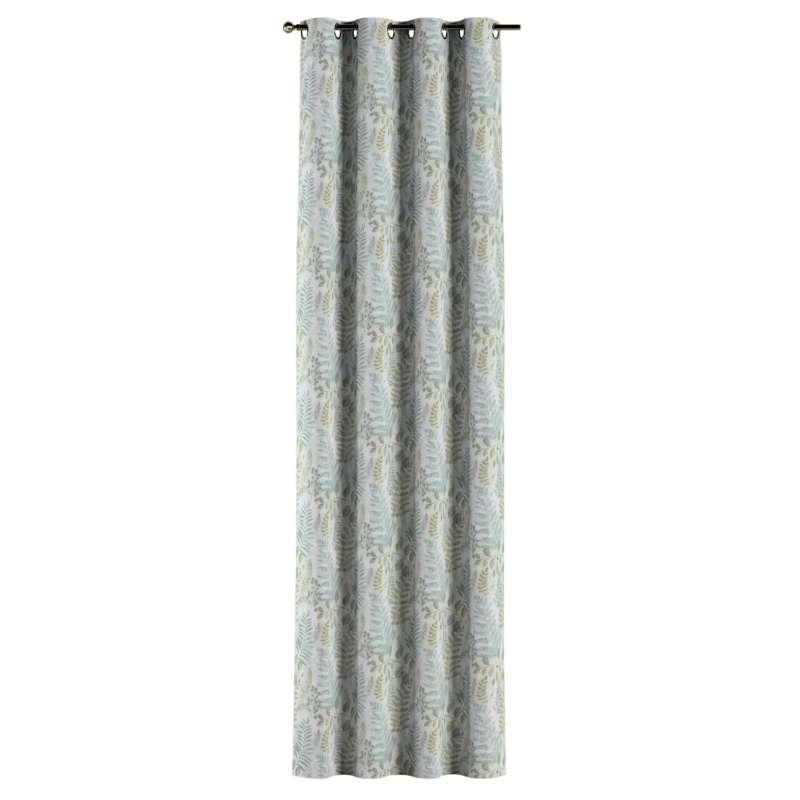 Gardin med öljetter 1 längd i kollektionen Pastel Forest, Tyg: 142-46