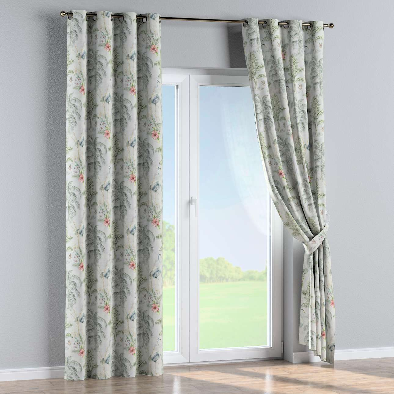 Eyelet curtains in collection Tropical Island, fabric: 142-58