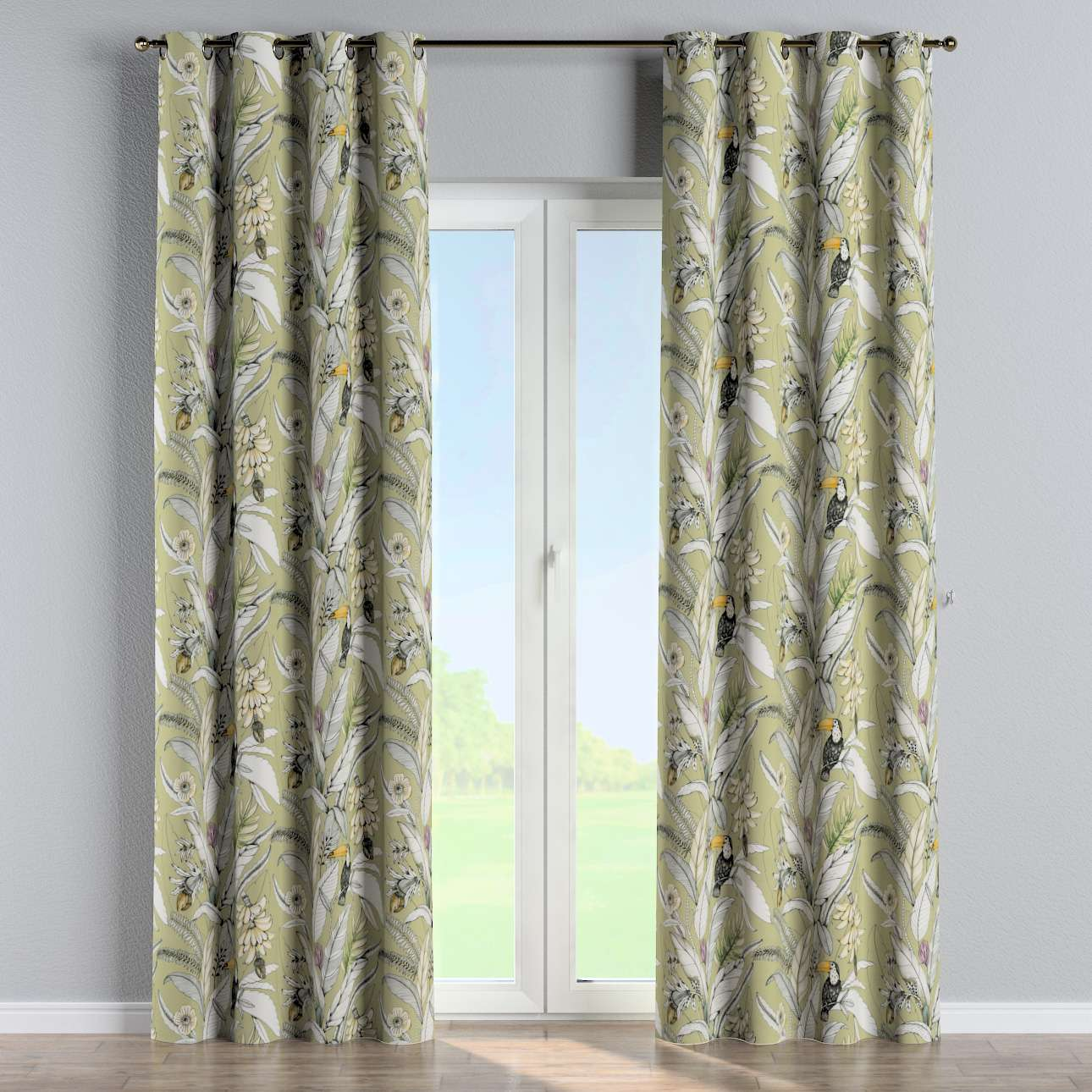 Eyelet curtains in collection Tropical Island, fabric: 142-65