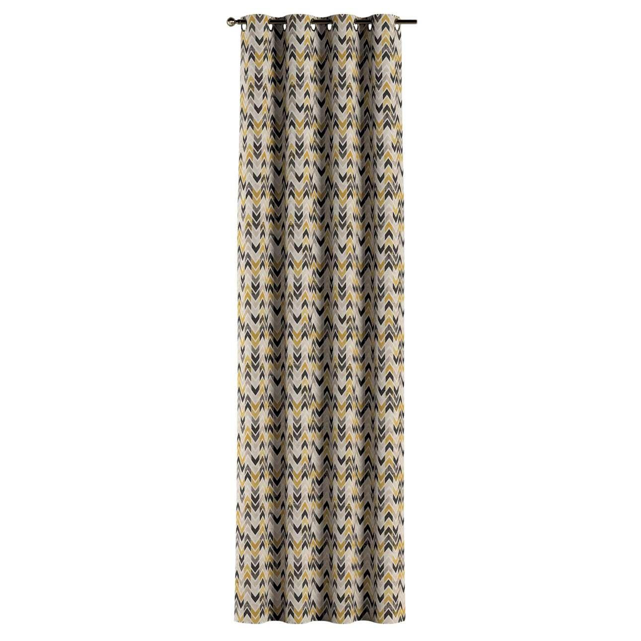 Gordijn met ringen van de collectie Modern, Stof: 142-79
