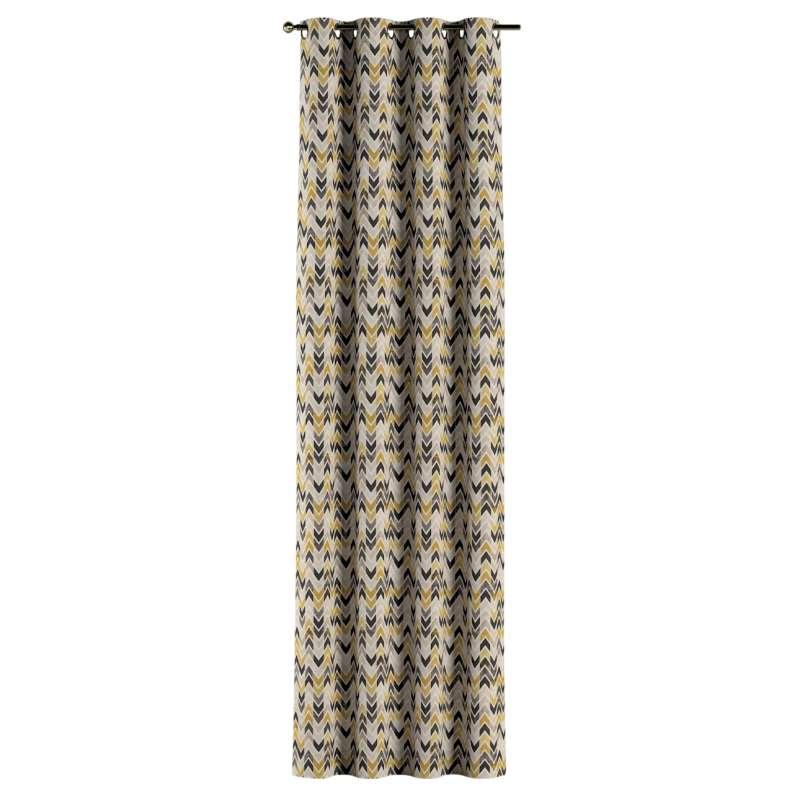 Gardin med öljetter 1 längd i kollektionen Modern, Tyg: 142-79