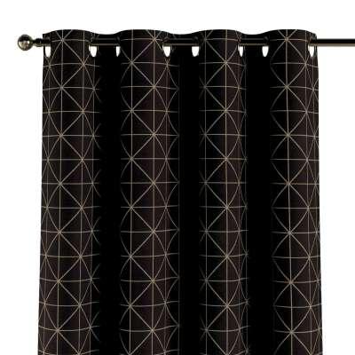 Zasłona na kółkach 1 szt. 142-55 czarno-beżowy ze złotą nitką Kolekcja Black & White