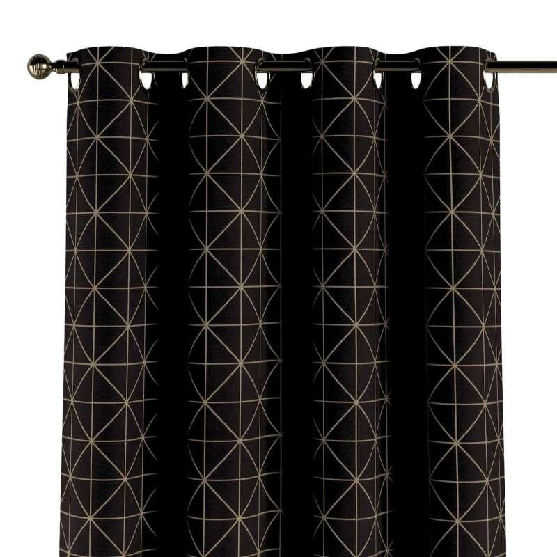 Gardin med øskner 1 stk. fra kollektionen Black & White, Stof: 142-55