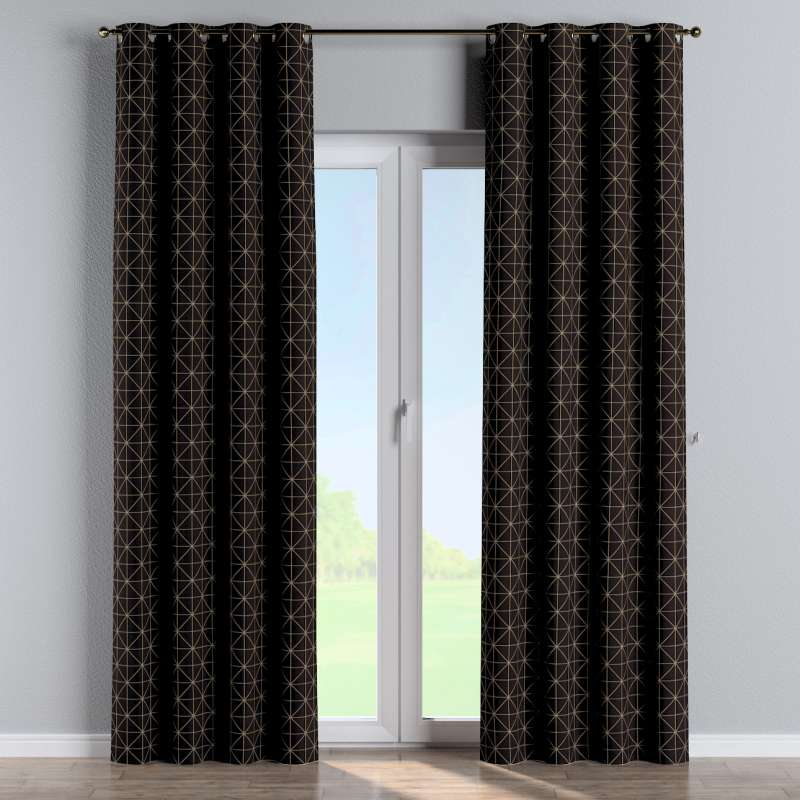 Eyelet curtain in collection Black & White, fabric: 142-55