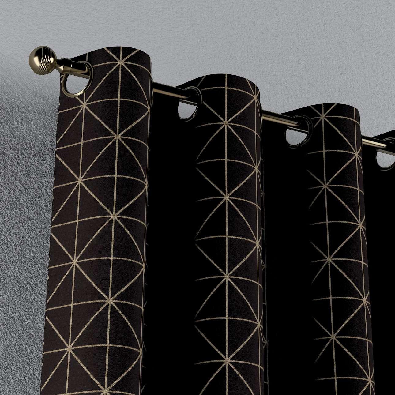 Zasłona na kółkach 1 szt. w kolekcji Black & White, tkanina: 142-55