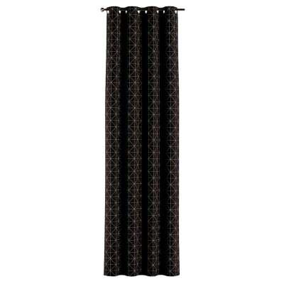 Závěs na kroužcích v kolekci Black & White, látka: 142-55