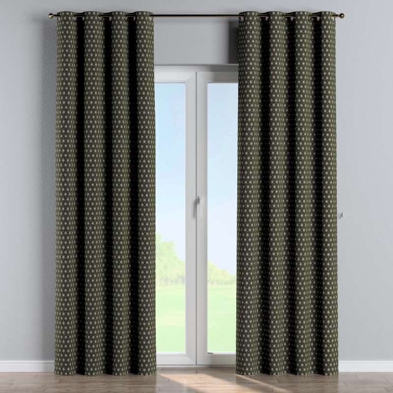Eyelet curtain in collection Black & White, fabric: 142-56
