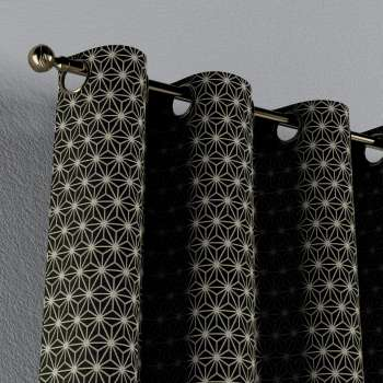 Gardin med maljer 1 stk. fra kolleksjonen Black & White, Stoffets bredde: 142-56