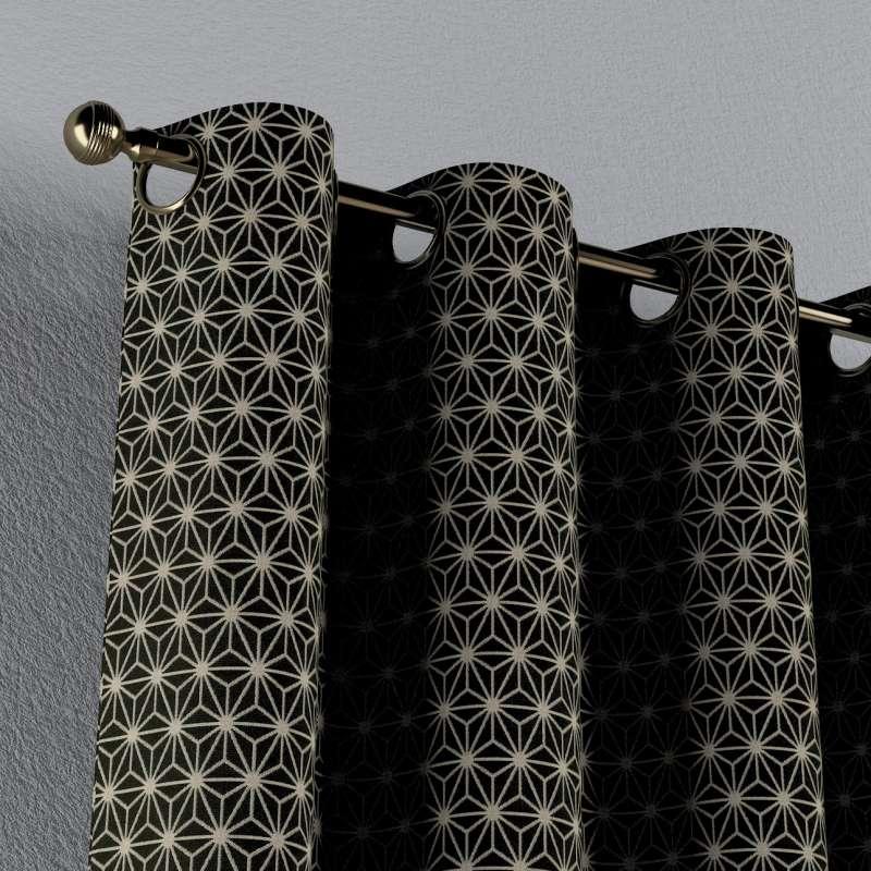 Záves s kolieskami V kolekcii Black & White, tkanina: 142-56