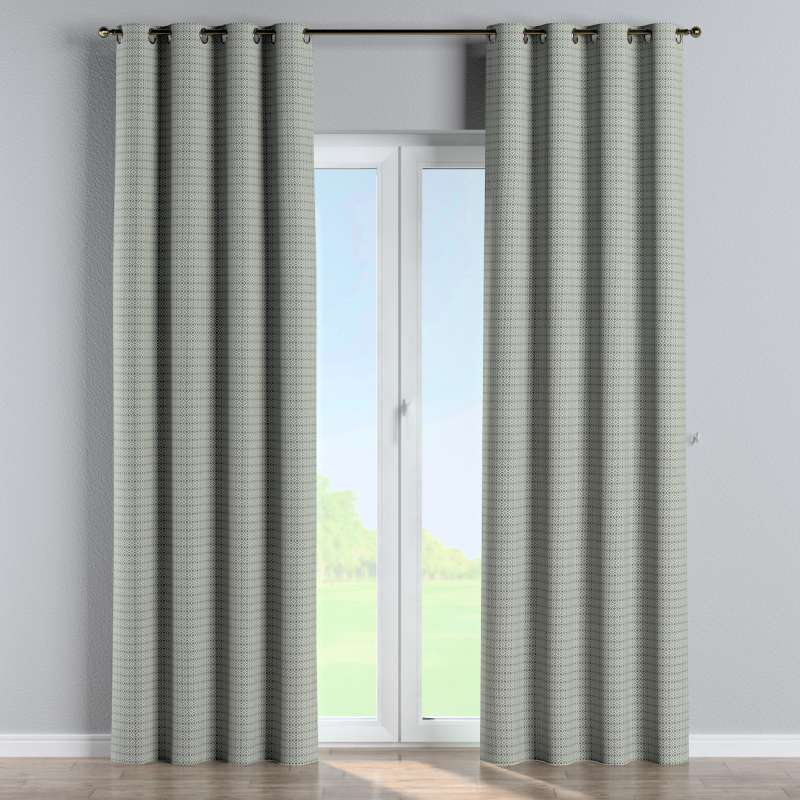 Eyelet curtain in collection Black & White, fabric: 142-76