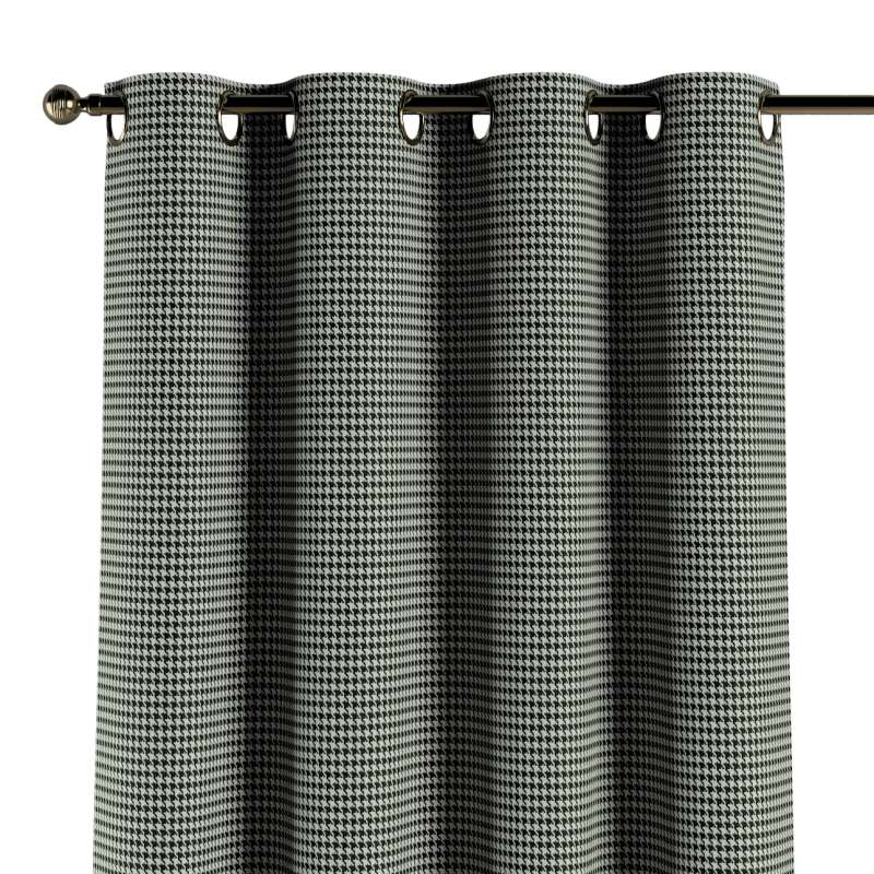 Závěs na kroužcích v kolekci Black & White, látka: 142-77