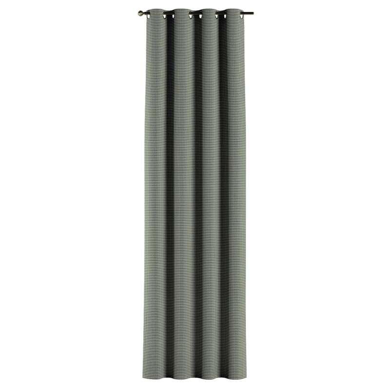Gardin med øskner 1 stk. fra kollektionen Black & White, Stof: 142-77