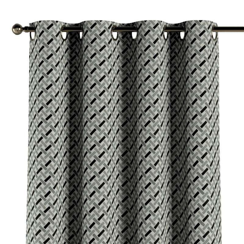 Ringlis függöny a kollekcióból Black & White szövet, Dekoranyag: 142-78