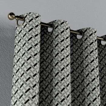 Zasłona na kółkach 1 szt. w kolekcji Black & White, tkanina: 142-78