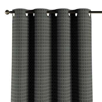Závěs na kroužcích v kolekci Black & White, látka: 142-86