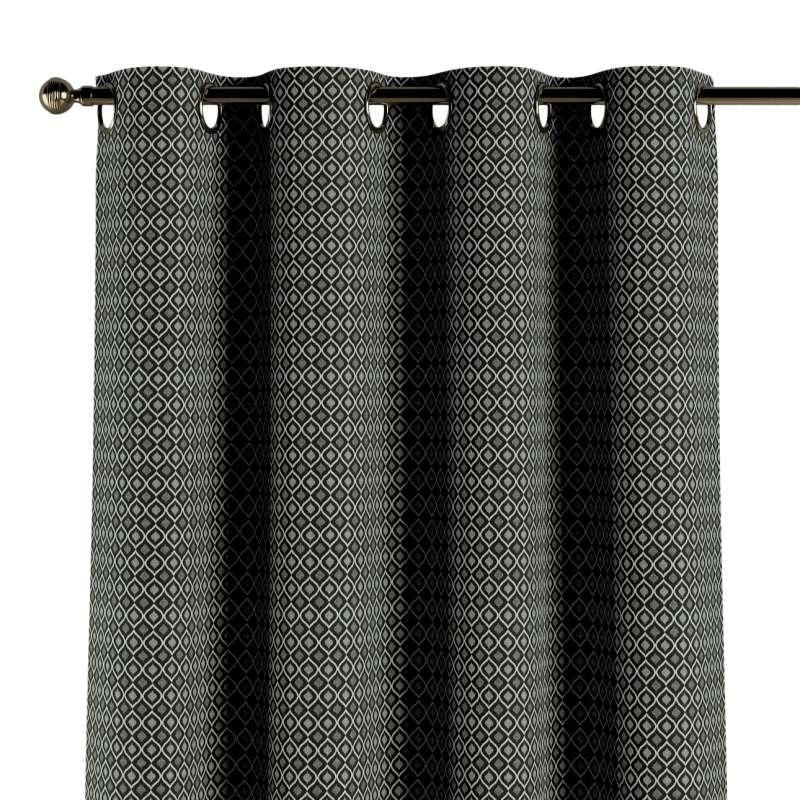 Gardin med maljer 1 stk. fra kolleksjonen Black & White, Stoffets bredde: 142-86
