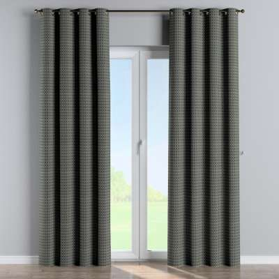 Eyelet curtains in collection Black & White, fabric: 142-86