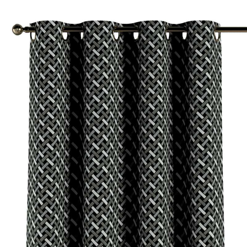 Eyelet curtain in collection Black & White, fabric: 142-87
