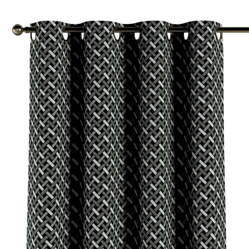 Gardin med maljer 1 stk. fra kolleksjonen Black & White, Stoffets bredde: 142-87