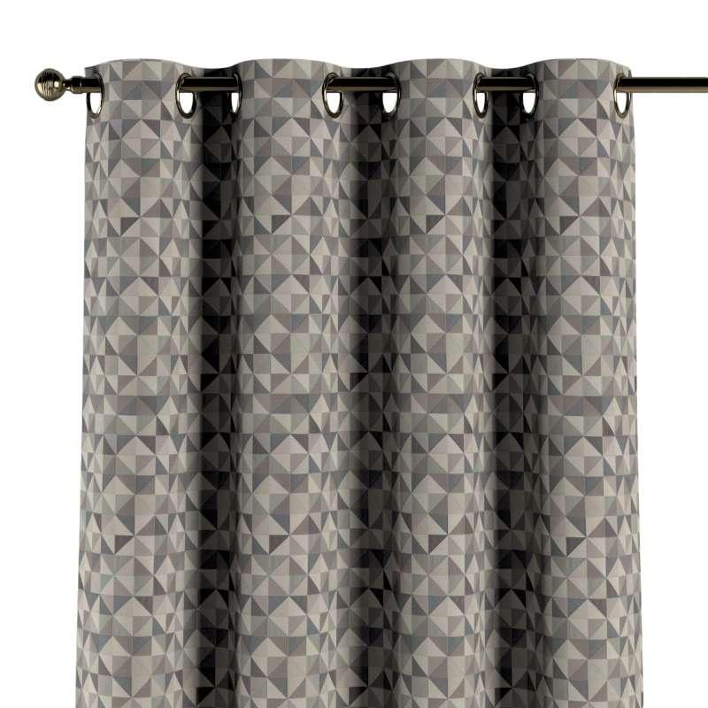 Gardin med öljetter 1 längd i kollektionen Retro Glam, Tyg: 142-84