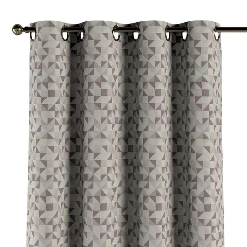 Gardin med öljetter 1 längd i kollektionen Retro Glam, Tyg: 142-85