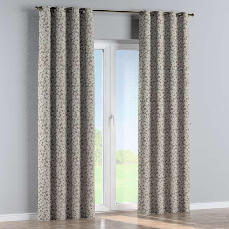 Eyelet curtain in collection Retro Glam, fabric: 142-85
