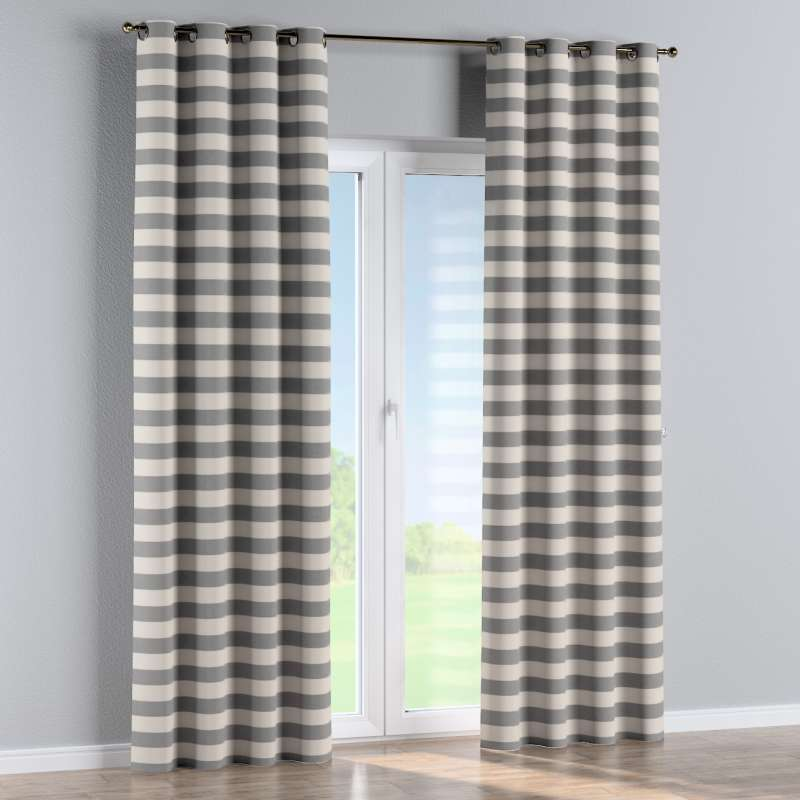 Eyelet curtain in collection Quadro, fabric: 142-71